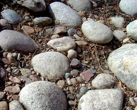photo of rounded gray river rocks