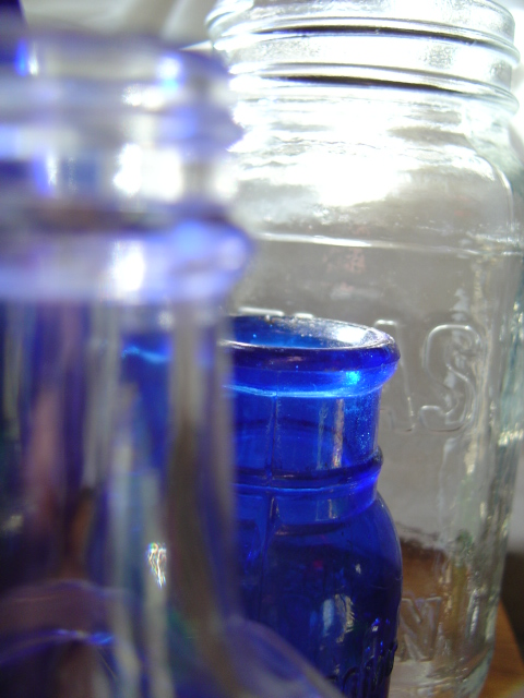 Glass Bottles And Jars Close Up Picture Free Photograph