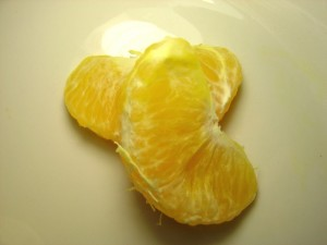 closeup photo of two orange slices