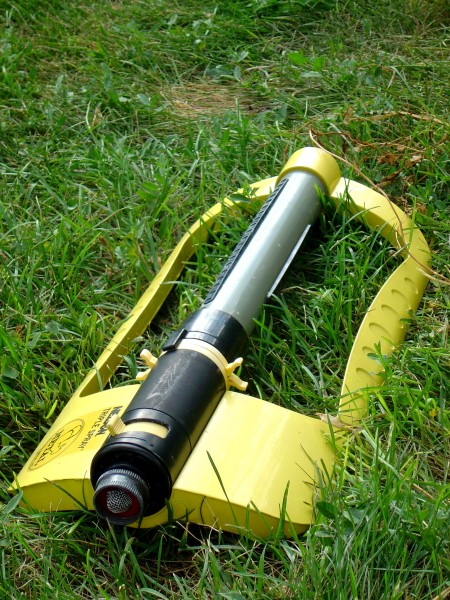 Yellow Sprinkler in the Grass - Free photo