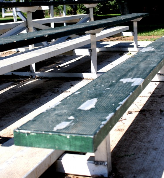 Free photo of empty bleachers at the park