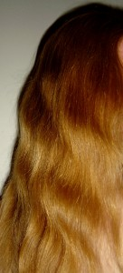 photo of long red wavy hair
