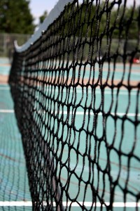 Free photograph of a tennis court net