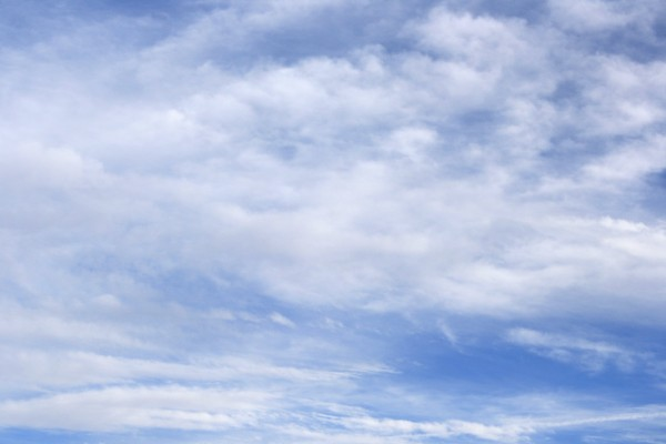 free photograph of white clouds in a beautiful blue sky