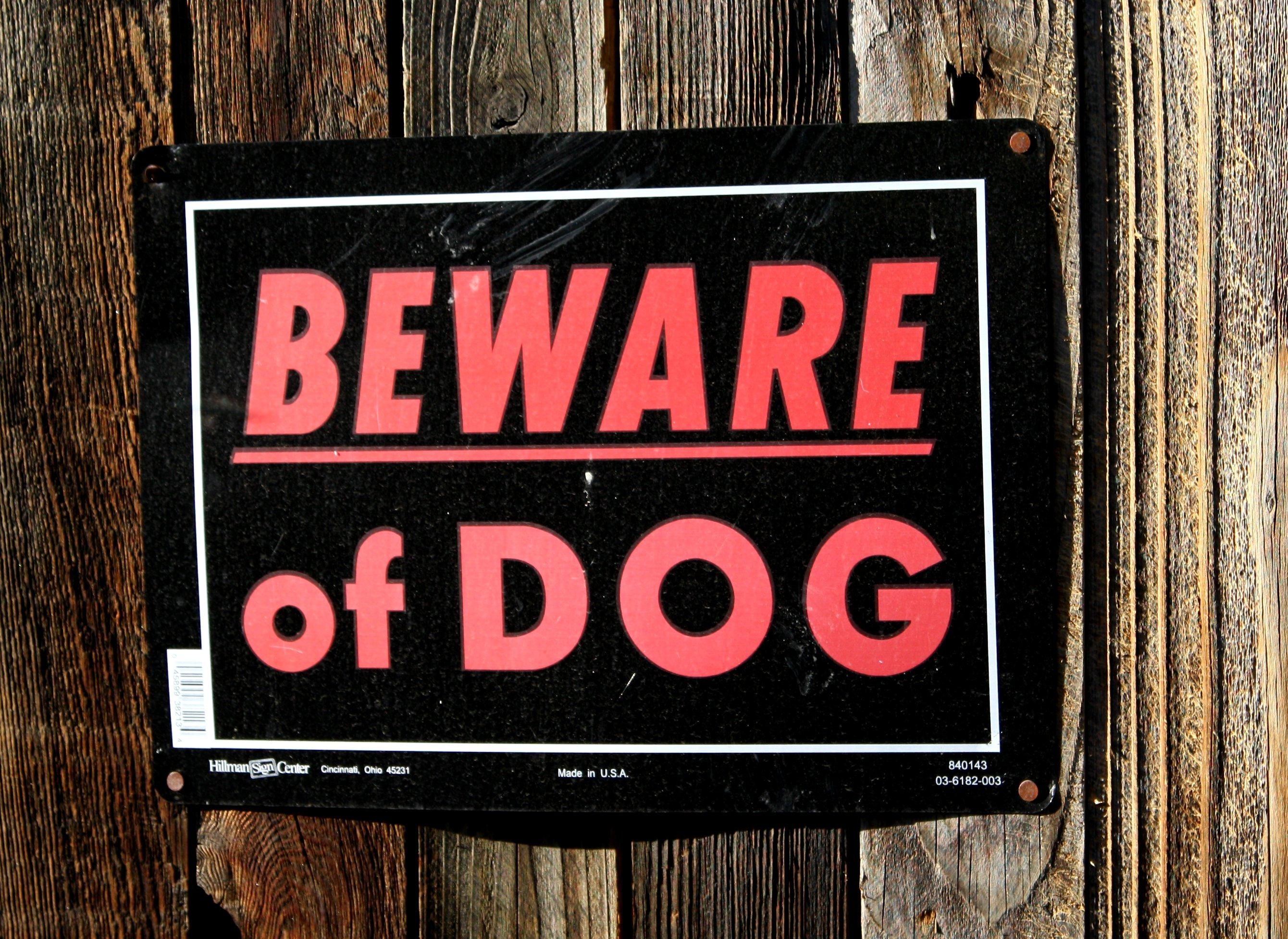 A Beware Sign