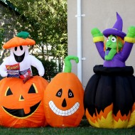 Free photo of Halloween blow up yard decorations