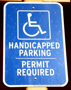 Free Photo of handicapped parking sign