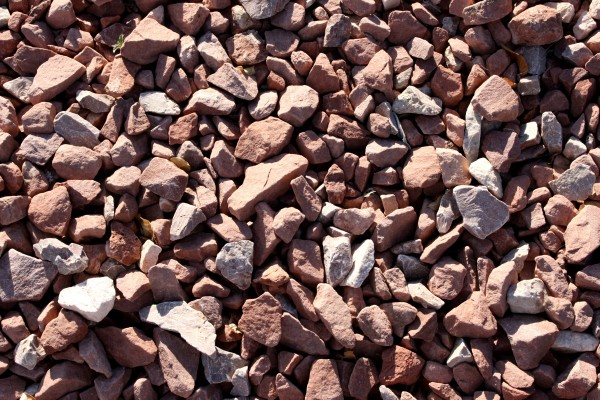 Free texture close up photo of red rock gravel