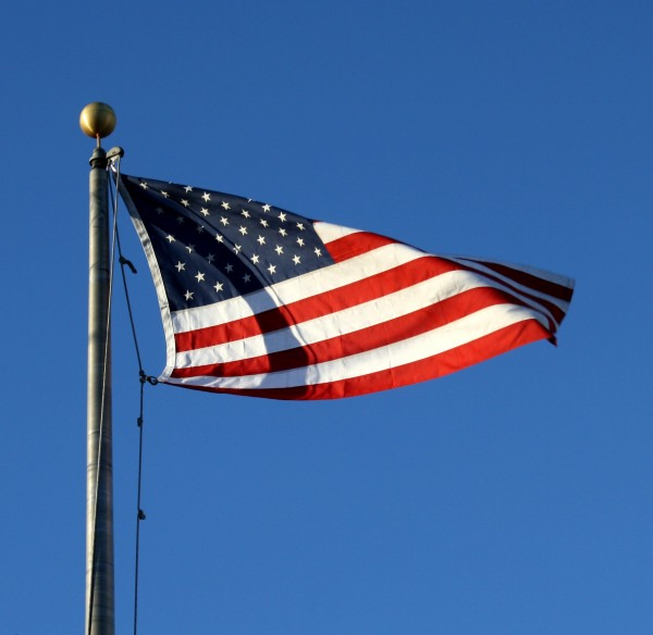 American flag flying high - free high resolution photo