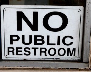 free high resolution photo of a no public restroom sign