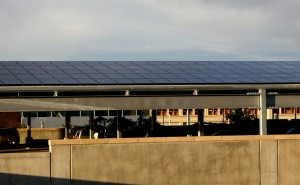Solar panels on parking garage - free high resolution photo