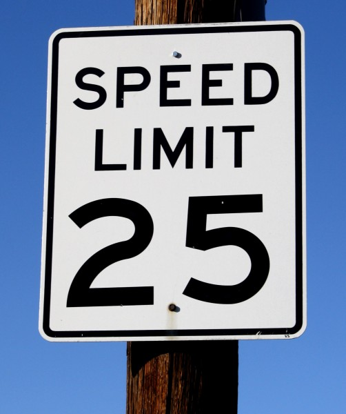 speed limit 25 sign - free high resolution photo