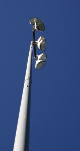 Free photo of stadium lights on a tall pole