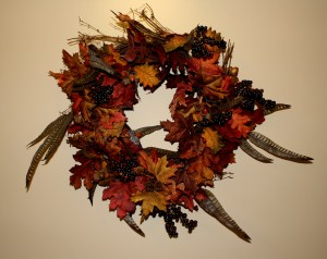 Thanksgiving autumn wreath - free high resolution photo