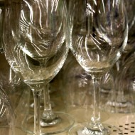 free high resolution photo of wine glasses on a store shelf