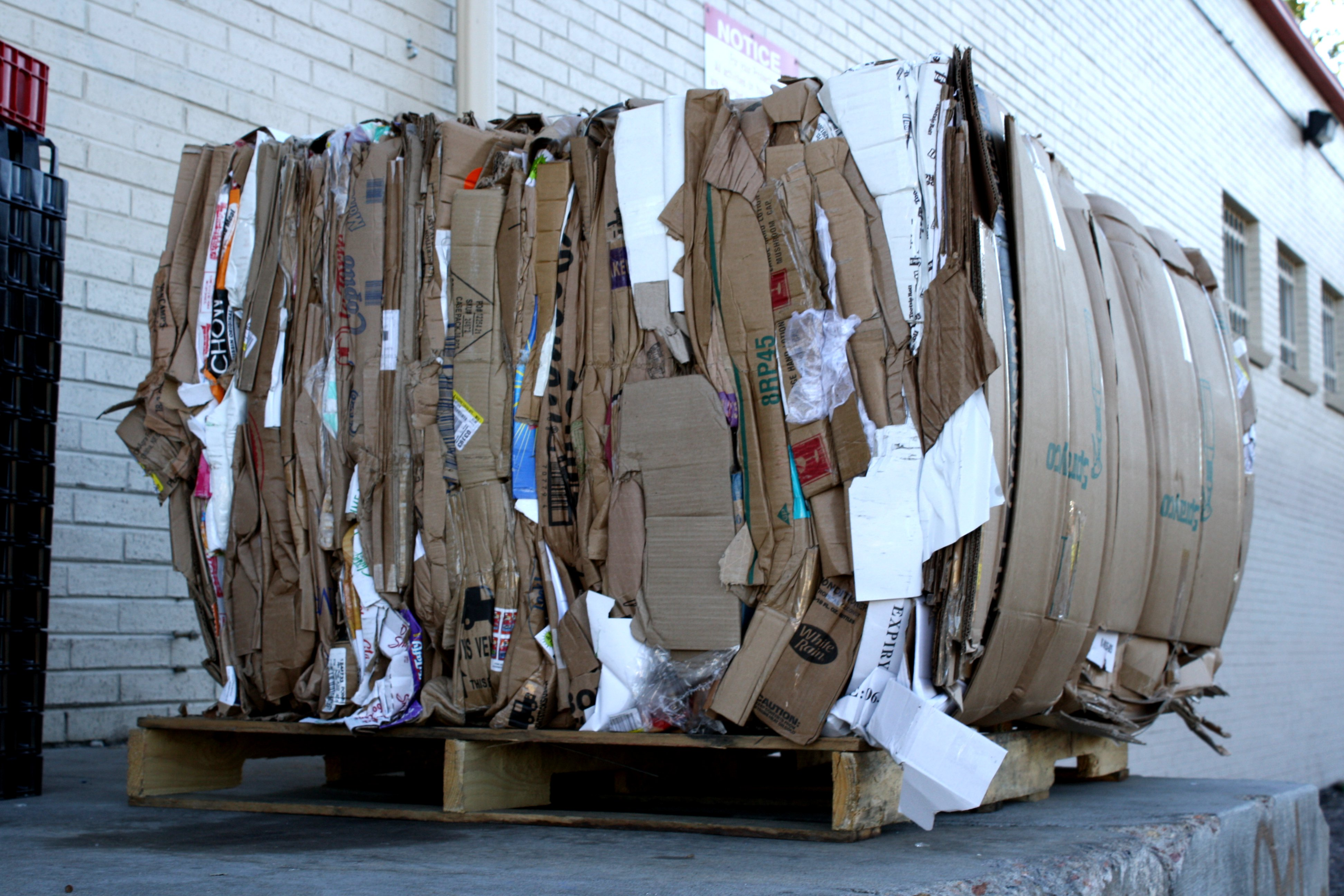 Bale Of Cardboard For Recycling Picture Free Photograph