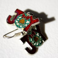 Christmas Joy Earrings with Wreath - free high resolution photo