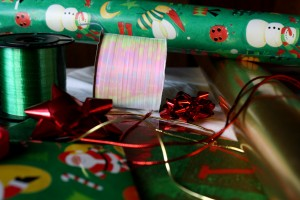 christmas wrapping supplies - free high resolution photo