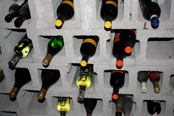 Cinder Block Wine Cellar - Free High Resolution Photo
