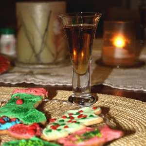 Dessert Wine and Christmas Cookies - Free high resolution photo
