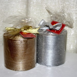 gold and silver Christmas candles - free high resolution photo