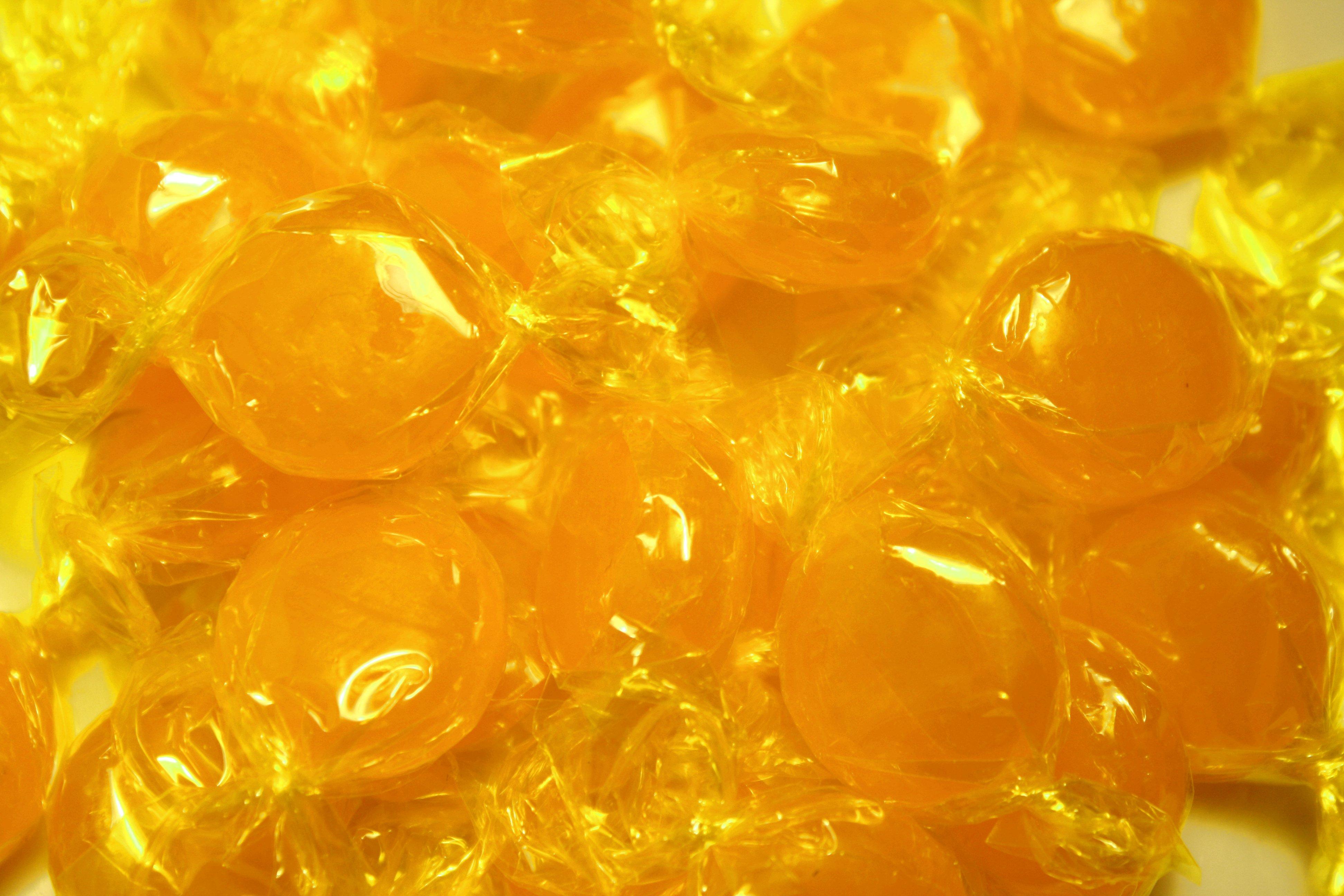 Hard butterscotch candy