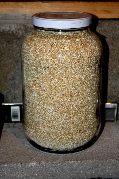 Jar of Steel Cut Oats - Free High resolution photo