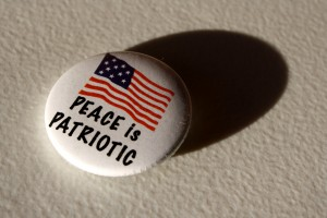 peace is patriotic button - free high resolution photo