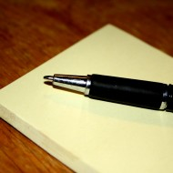 Pen and Post-it Notepad - Free High Resolution Photo