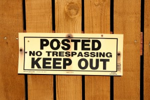 Posted Keep Out Sign - Free High Resolution Photo