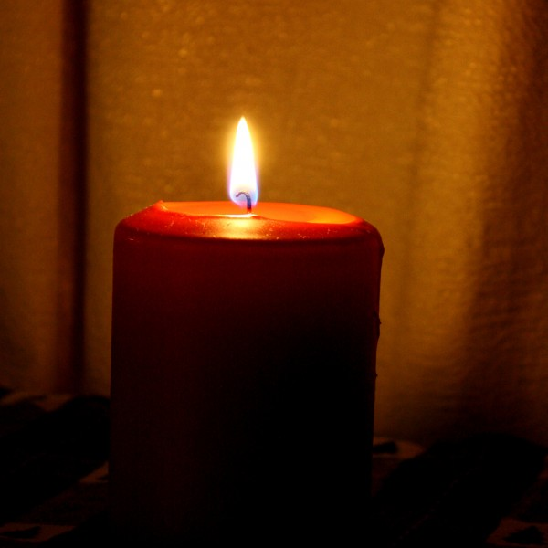 red burning candle - free high resolution photo