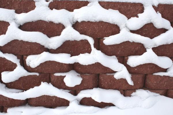 Snow On Brick Wall Texture Photos Public Domain