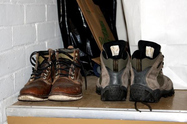 Winter Boots on Storage Shelf - Free High Resolution Photo