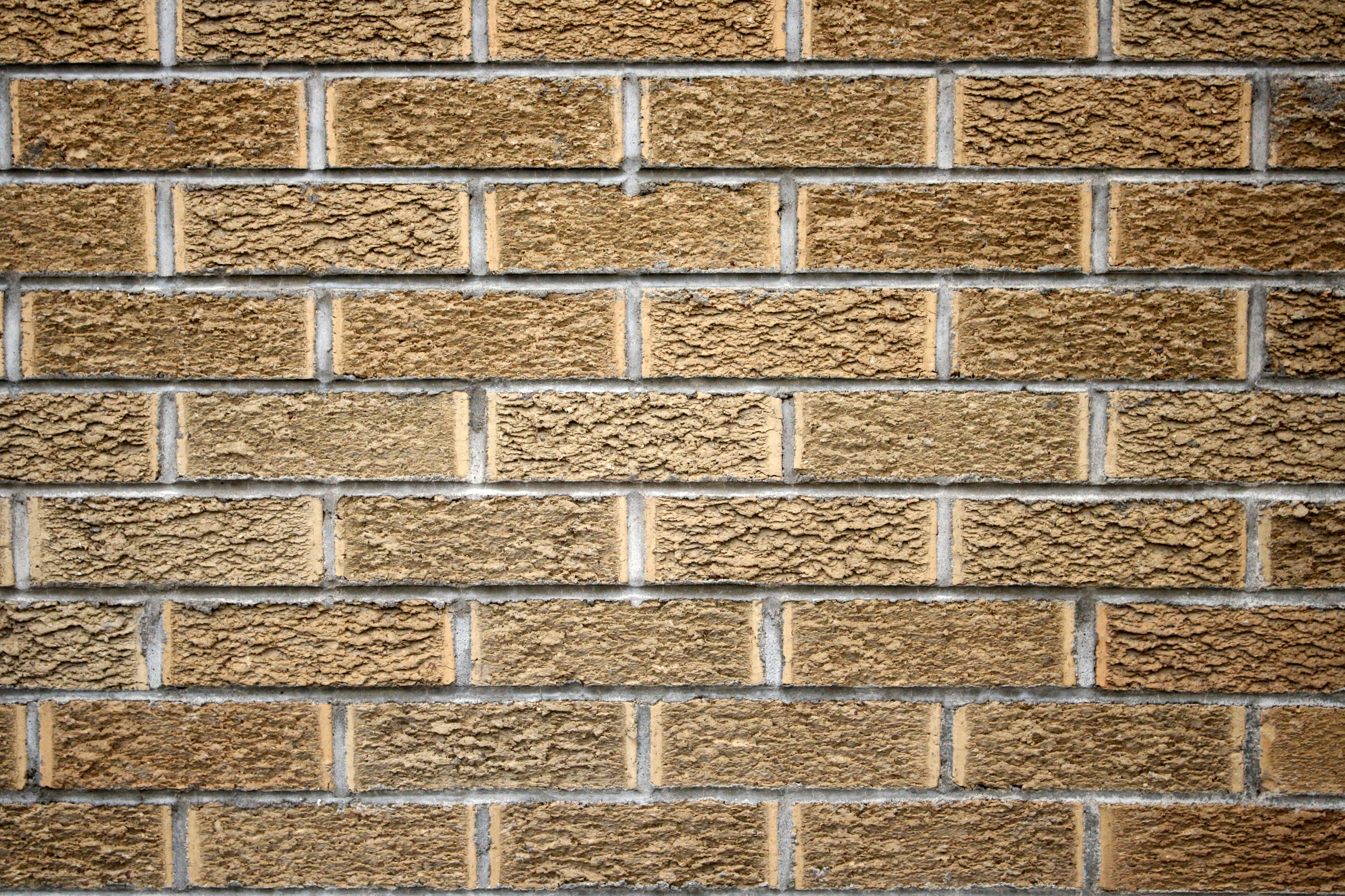 Wall Texture Design Images : Blonde brick wall texture picture free photograph