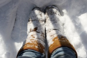 Boots in the Snow - Free High Resolution Photo