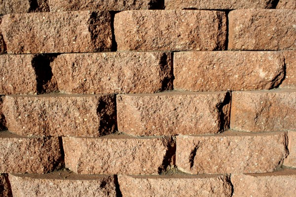 Brown Brick Retaining Wall Texture - Free High Resolution Photo
