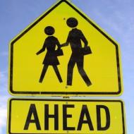 Crosswalk Ahead Sign - Free High Resolution Photo