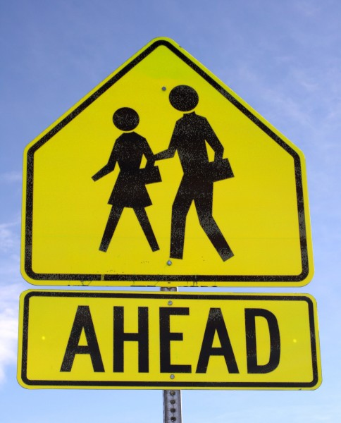 Crosswalk Ahead Sign - Free High Resolution Photo