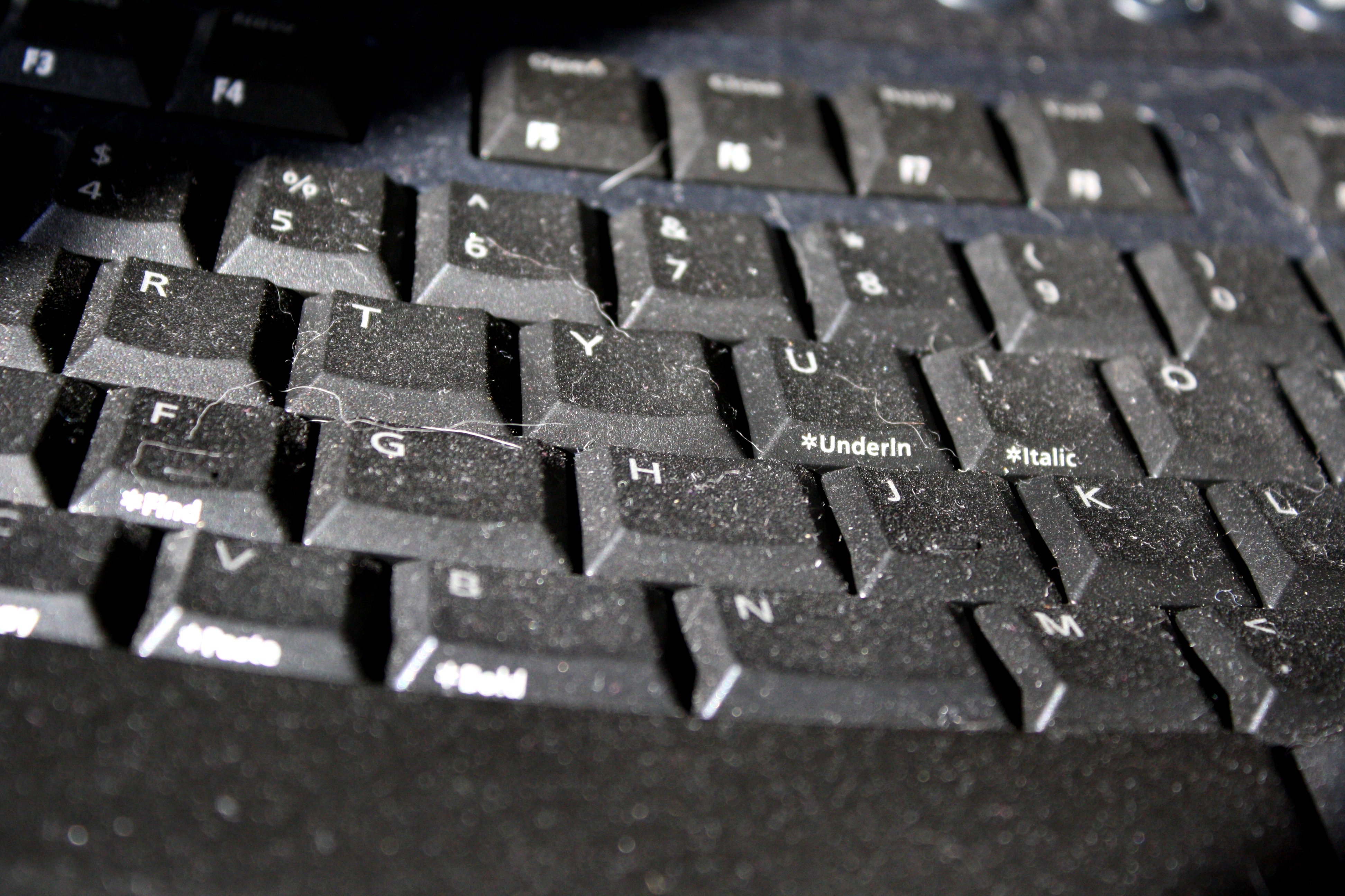 Dusty Computer Keyboard Closeup Picture Free Photograph