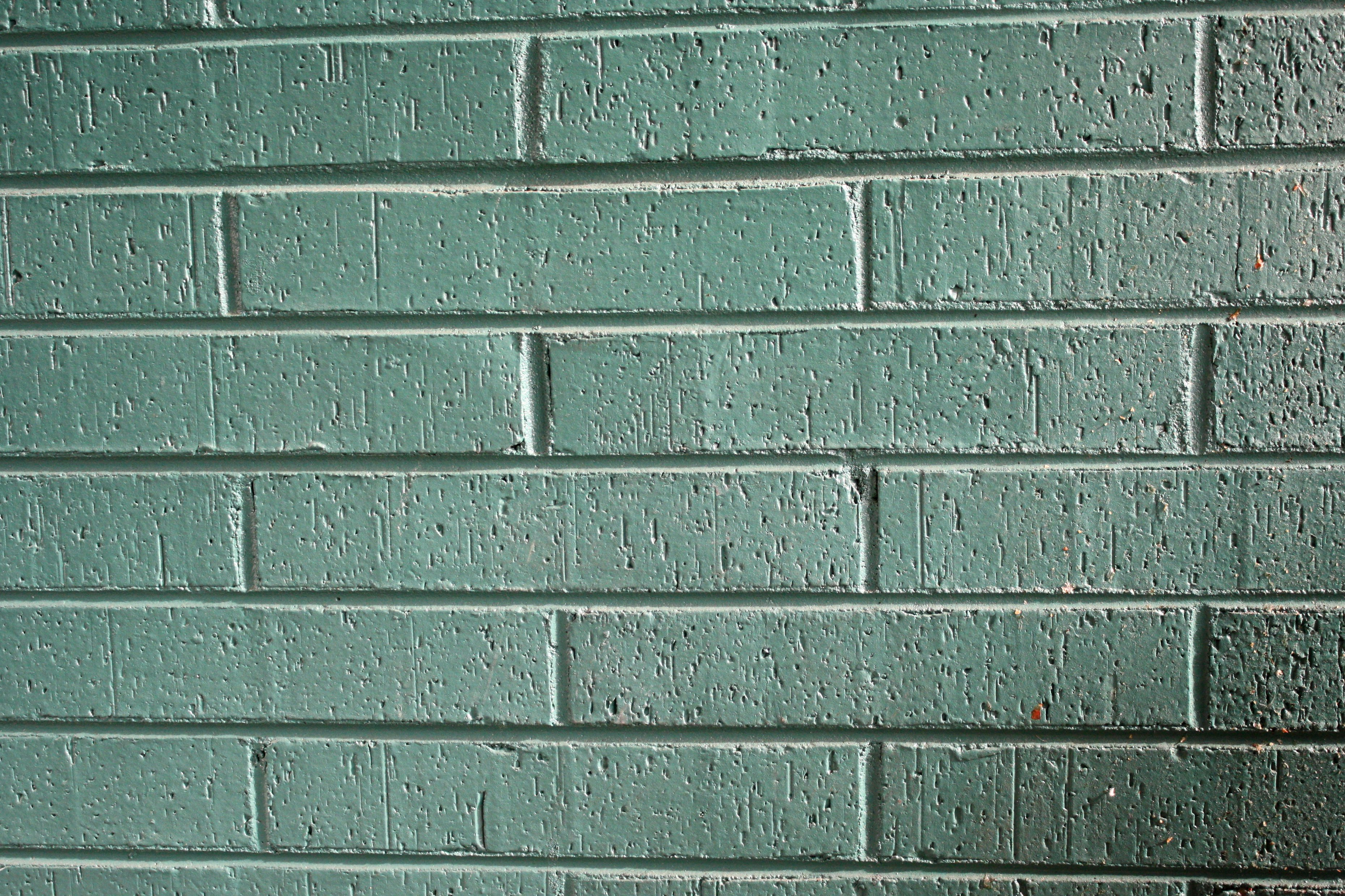 Green Brick Wall Texture Picture Free Photograph