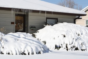 House with Snow and Icicles - Free High Resolution Photo