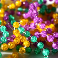 Mardi Gras Beads Closeup - Free High Resolution Photo