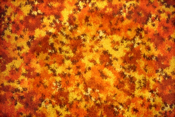 Orange Floral Carpet Texture Picture Free Photograph