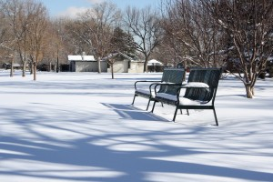 Park Benches in the Snow - Free High Resolution Photo