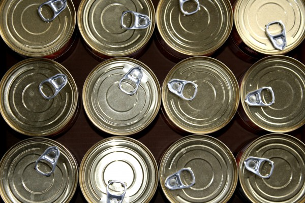 Pull Top Cat Food Cans Closeup Texture - Free High Resolution Photo
