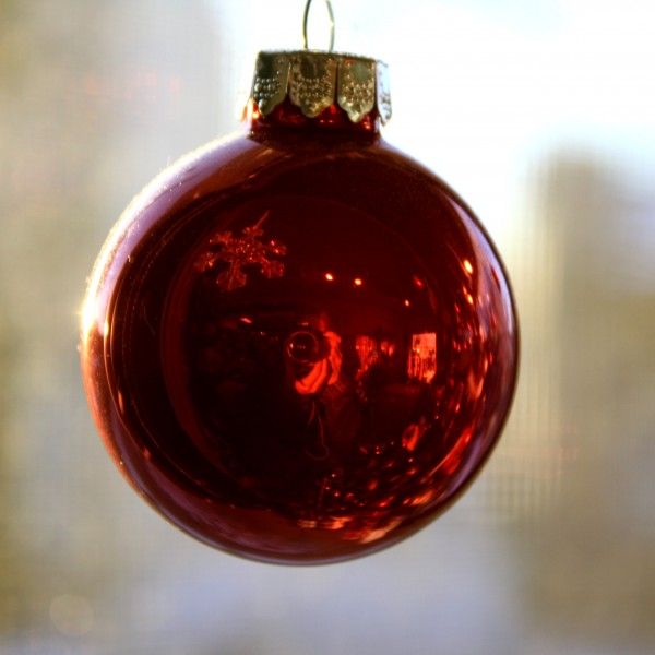 Red Christmas Ball Ornament - Free High Resolution Photo