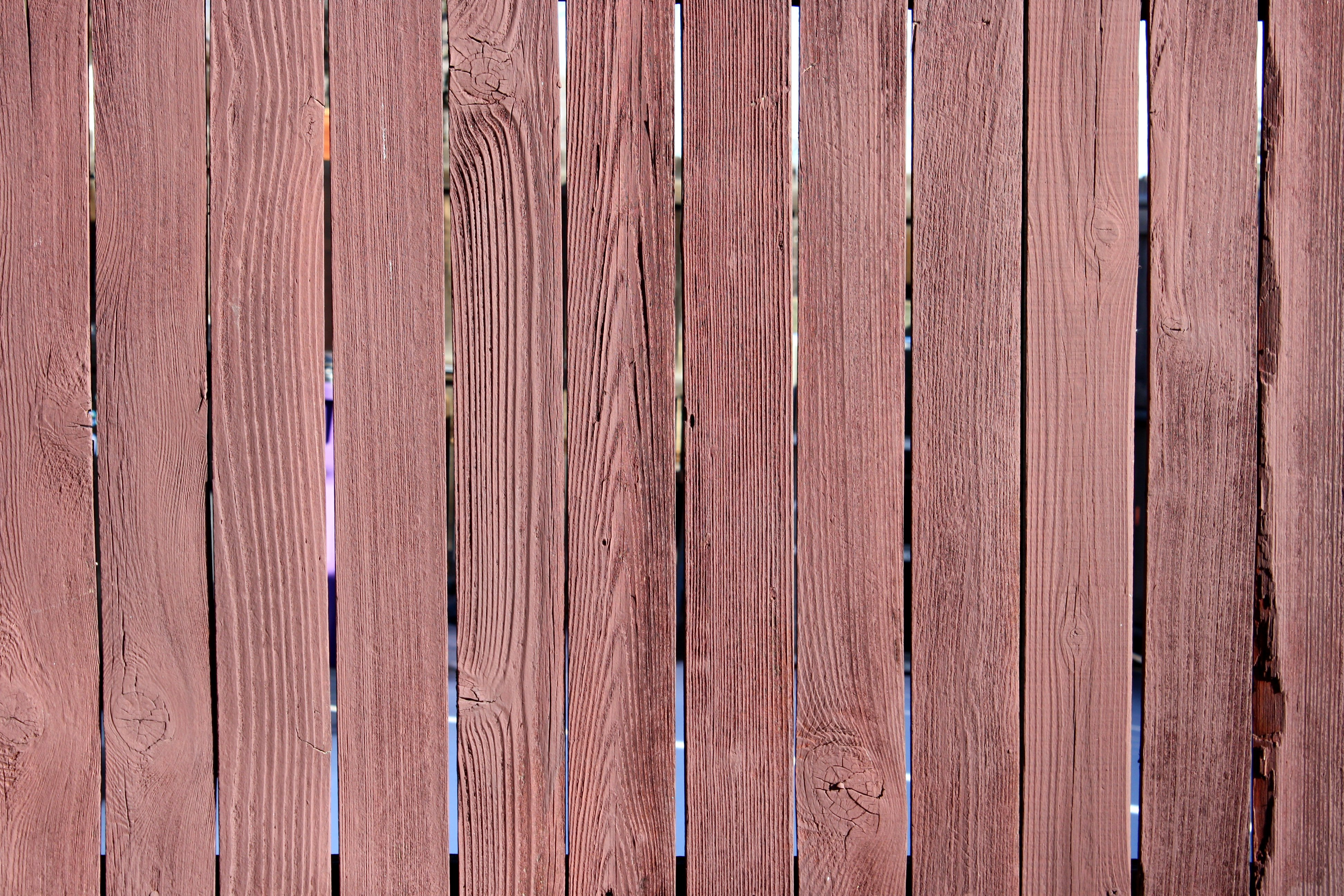 Red Stained Fence Texture Photos Public Domain