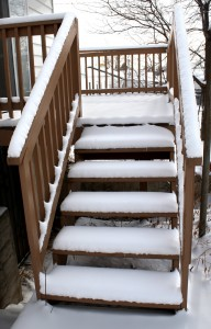 Snow Covered Deck Steps - Free High Resolution Photo