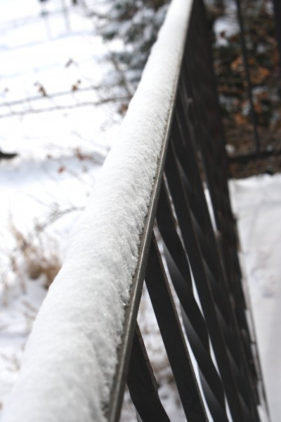 Snow on Railing - Free High Resolution Photo