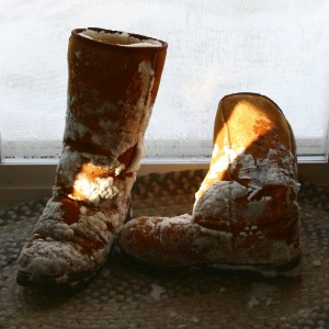 Snowy Boots by the Door - Free High Resolution Photo